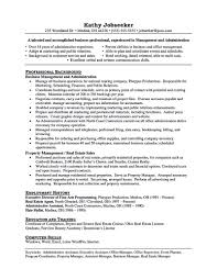Production Manager Resume Sample Sample Assistant Property Manager Resume Resume For Your Job