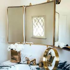 Tri Fold Mirrors Bathroom Tri Fold Mirrors Bathroom Psart Co