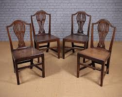 four georgian country chippendale dining chairs antiques atlas