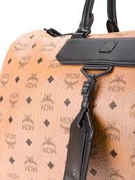 handtaschen design mcm damen tasche günstig kaufen mcm reisetasche mit logo print