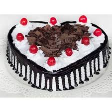 online cake delivery heart shape black forest 1 2 kg cake maharaja cake