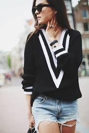 boyfriend sweaters black v neck sleeve boyfriend sweater abaday com
