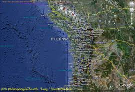 Pacific Northwest Map Review Orbx U2013 Ftx Na Blue Usa Canada Pacific North West And