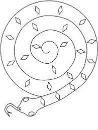verwerking knutsel spiraal slangen plaatje om te printen adam
