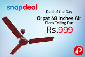 ceiling fan size in inches snapdeal dealoftheday is offering orpat 48 inches air flora ceiling