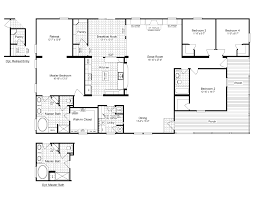 one open floor house plans one floor house plans 5 bedroom ranch open corglife