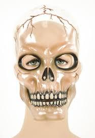 halloween skeleton mask transparent plastic halloween horror purge style blood scars fancy