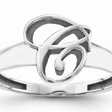 Monogram Initial Ring Initials U0026 Monogram Rings Page 1 Of 2 Wedding Products On
