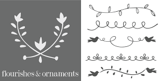 flourishes ornaments webfont desktop font myfonts