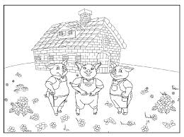 pigs wolf coloring pages pigs coloring