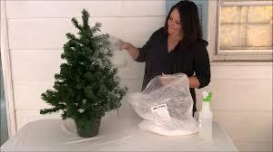 diy flocked christmas tree lovely etc