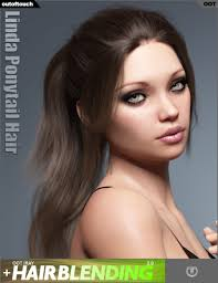 ponytail hair ponytail hair for genesis 3 and 8 s 3d models and
