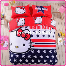 Hello Kitty Duvet Hello Kitty Bedding Set Children Bed Sheets Star Love Hello Kitty