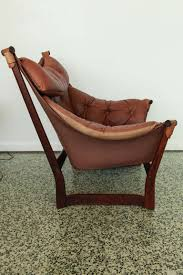 Outdoor Sling Chairs Ingmar Relling For Westnofa Brown Leather Sling Lounge Chair At
