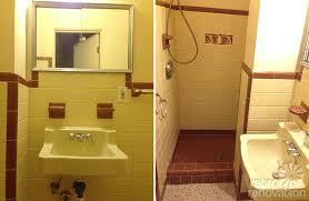 Bathroom Tile Makeover - remarkable vintage yellow bathroom tile with interior home design