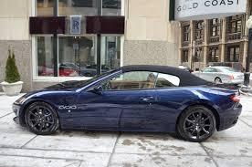 maserati granturismo convertible blue 2014 maserati granturismo convertible sport stock m266 s for