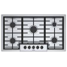 Gas Cooktop 90cm Shop Bosch 500 Series 5 Burner Gas Cooktop Stainless Steel