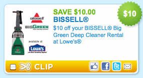 Rug Doctor Discount Coupons Lowes 10 Off Big Green Deep Cleaner Rental U003d 14 99 A Day