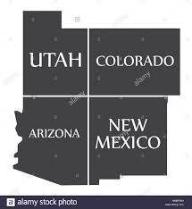 Map Of Colorado And Utah by Map Utah Colorado Stock Photos U0026 Map Utah Colorado Stock Images