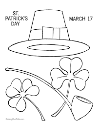 shamrock coloring pages 001