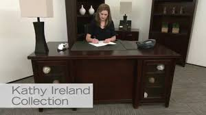 Executive Office Desk Cherry Cherry Executive Desk Kathy Ireland Tribeca Loft National