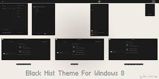 black themes windows 8 black mist theme for windows 8 1 cleodesktop download http www