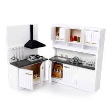 miniature dollhouse kitchen furniture 1 12 dollhouse miniature furniture wooden kitchen set amazon co uk