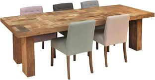 block recycled teak rectangular dining table small