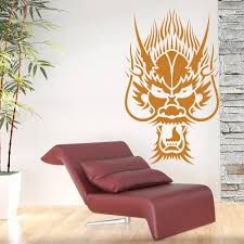 oriental dragon head fantasy chinese dragon wall stickers home