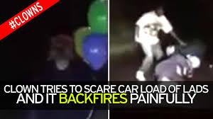 creepy clown stunt goes horribly wrong as prankster u0027takes savage
