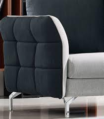 Fabric Sofa Set Divani Casa Torey Modern Dark Grey U0026 Light Grey Fabric Sofa Set
