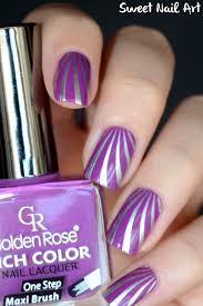 golden rose rich color 26 et sa déco stripe nail designs colors