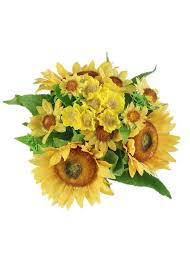 sunflower bouquets faux sunflower bouquet in yellow 12 x 10 diameter
