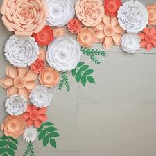 backdrop paper paper flowers for a wedding easy paper flowers backdrop wedding