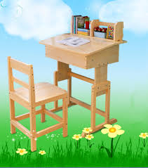 marvelous wooden study table and chair set for kids