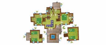 Treehouse Floor Plan by Enchanted Village Treehouses