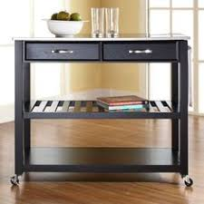 kitchen island cart stainless steel top kitchen cart with wood and stainless steel top in finish