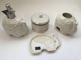 new cynthia rowley elephant 4 pc bathroom set soap dish soap