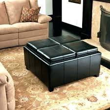 Leather Top Ottoman Awesome Leather Ottoman With Tray Top Coffee Table Storage Ottoman