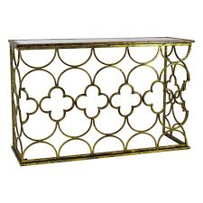 Metal Console Table Myra Gold Metal Console Table 6723 The Home Depot