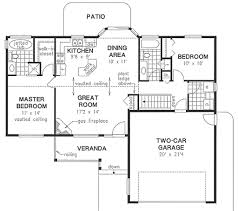 House Plans With Vaulted Great Room by Ranch Style House Plan 2 Beds 2 00 Baths 1096 Sq Ft Plan 18 1055