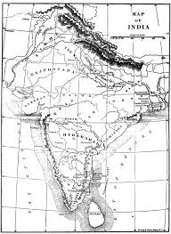British India Map by Gazetteer And Maps