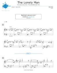 piano sheet music lonely man theme joe harnell noviscore