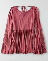 aeo soft u0026 babydoll t shirt burgundy american eagle
