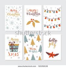 Xmas Designs For Cards Vector Merry Christmas Happy New Year Stock Vector 534438322