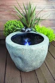 modern water feature garden stone bowl as unique modern water features idea water