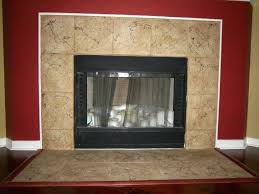 granite tile fireplace surround installation round designs