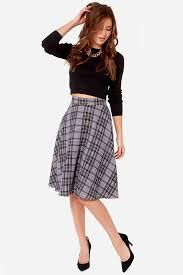 plaid skirt plaid skirt grey skirt midi skirt 58 00
