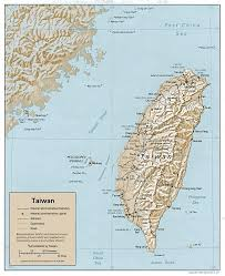 Taiwan Map Asia by
