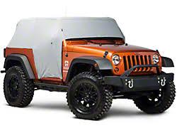 jeep wrangler cer top smittybilt wrangler water resistant cab cover w door flaps 1069